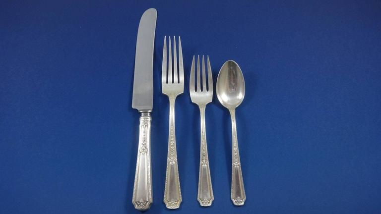 louis xiv by towle sterling silver flatware set for 12 146 pieces 3