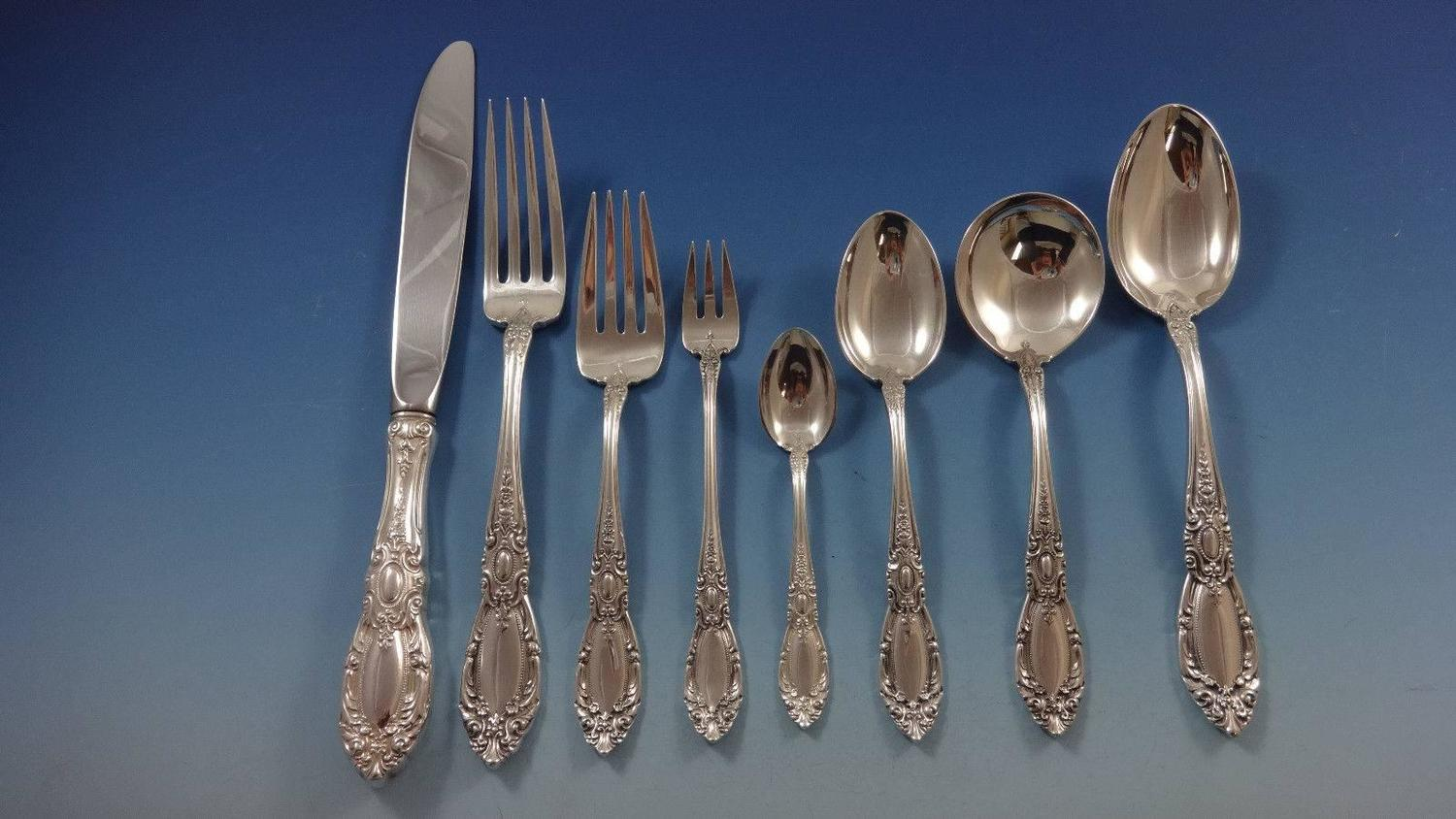 King Richard By Towle Sterling Silver Dinner Flatware Set