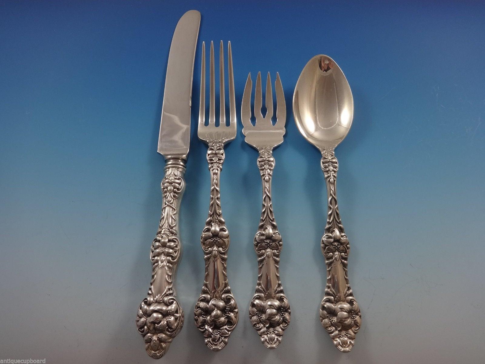 """Gorham Orange Blossom Sterling Silver Salad Fork No Monograms s - 6 3//4/"""""""