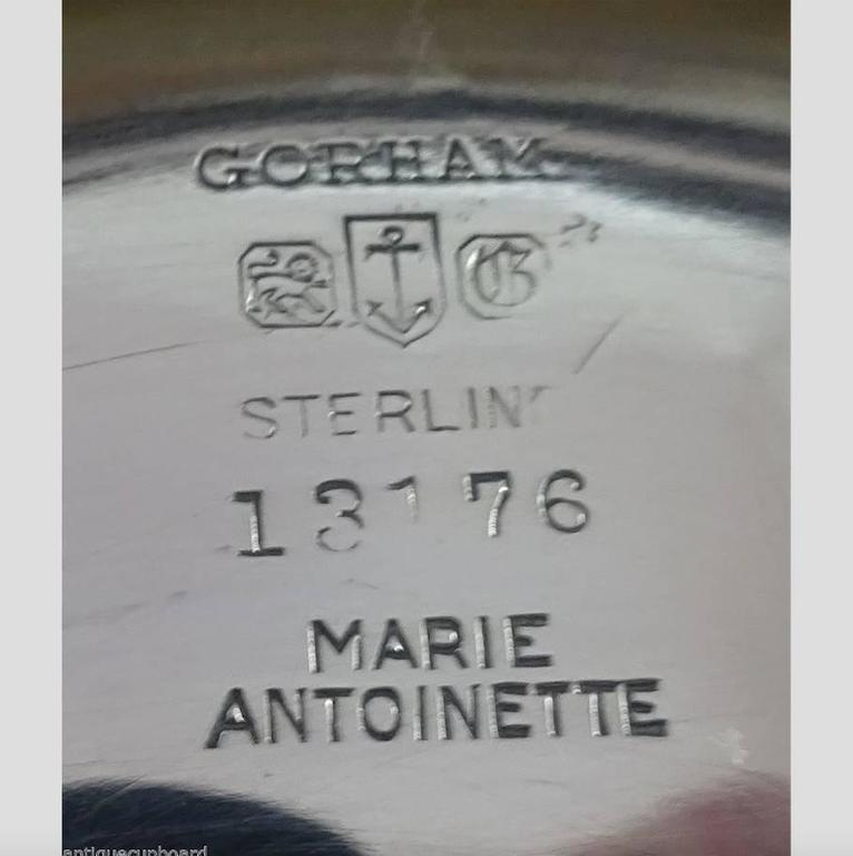 Marie Antoinette by Gorham Sterling Silver Ice Bowl Set, Hollowware & Barware For Sale 4