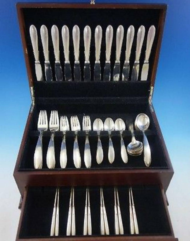Stromlinie By A Dragsted Danish Sterling Silver Flatware