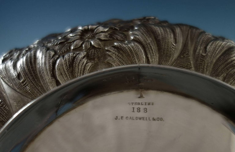 Repousse by Jenkins & Jenkins Sterling Silver Fruit Bowl #188 Hollowware For Sale 3