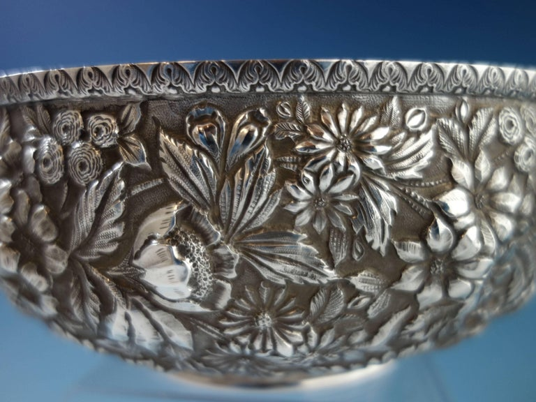 Unknown Repousse by Jenkins & Jenkins Sterling Silver Fruit Bowl #188 Hollowware For Sale