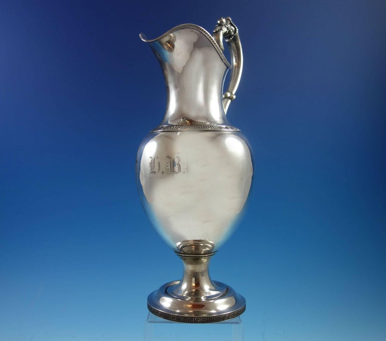 19th Century Ball Black & Co. Coin Silver Water Pitcher Early Vintage Hollowware (SKU#1974) For Sale