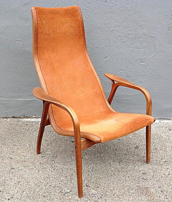 Swedese Lamino Chair In Suede By Yngve Ekström 2