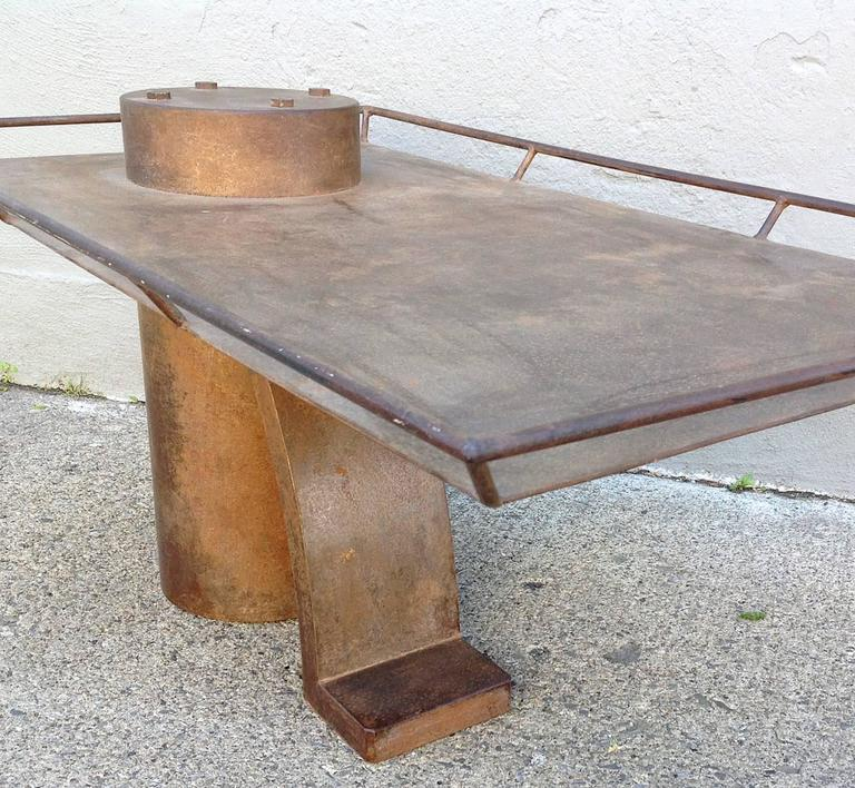 Post Modern Coffee Tables: Post Modern Steel Coffee Table For Sale At 1stdibs