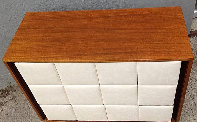 Mid-Century Modern Three-Drawer Mahogany Chest Gilbert Rohde for Herman Miller For Sale