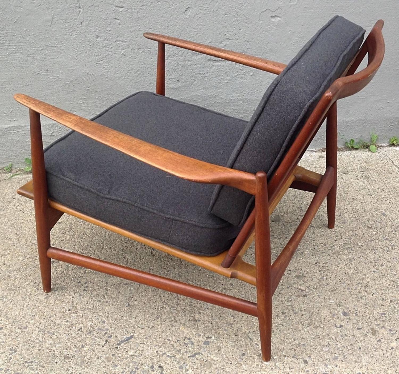 Ib Kofod Larsen For Selig Teak Lounge Chair For Sale At 1stdibs