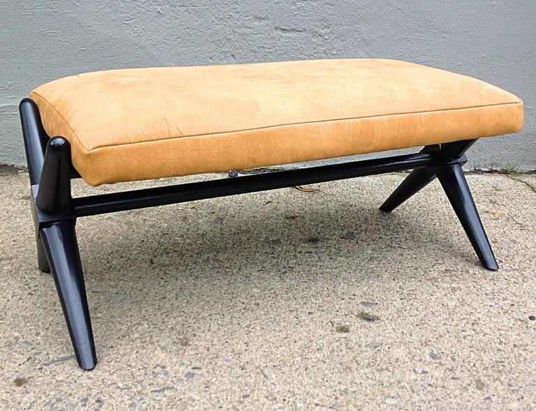 X Base Trestle Bench By T H Robsjohn Gibbings For Widdicomb At 1stdibs