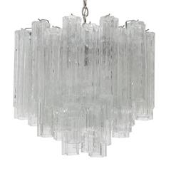 Large Murano Glass Tronchi Chandelier by Camer
