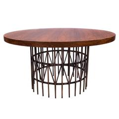 Milo Baughman for Thayer Coggin Center or Coffee Table in Rosewood & Bronze
