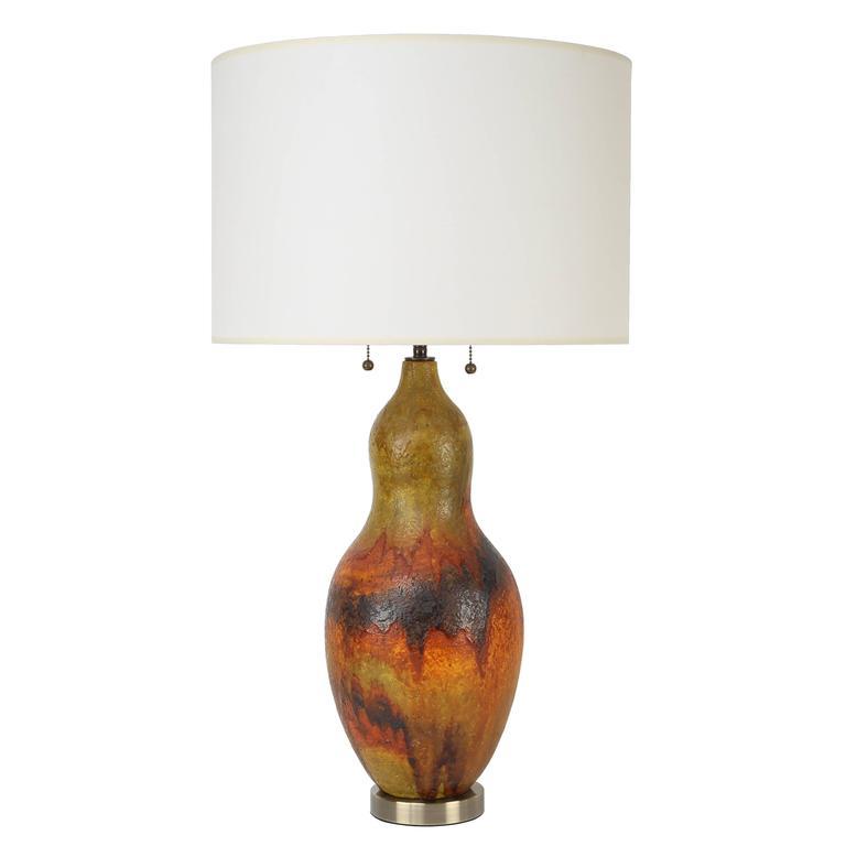 1960s Marcello Fantoni Ceramic Table Lamp