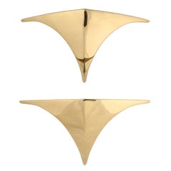 "Pair of Deco-Revival ""Chan"" Sconces by Erik Stanton Chan for Boyd Lighting Co"