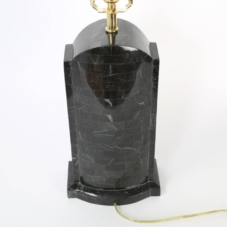 Pair of Maitland Smith Tessellated Stone Lamps, circa 1980s In Excellent Condition For Sale In Brooklyn, NY