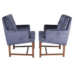 Pair of 1950s Edward Wormley for Dunbar Armchairs