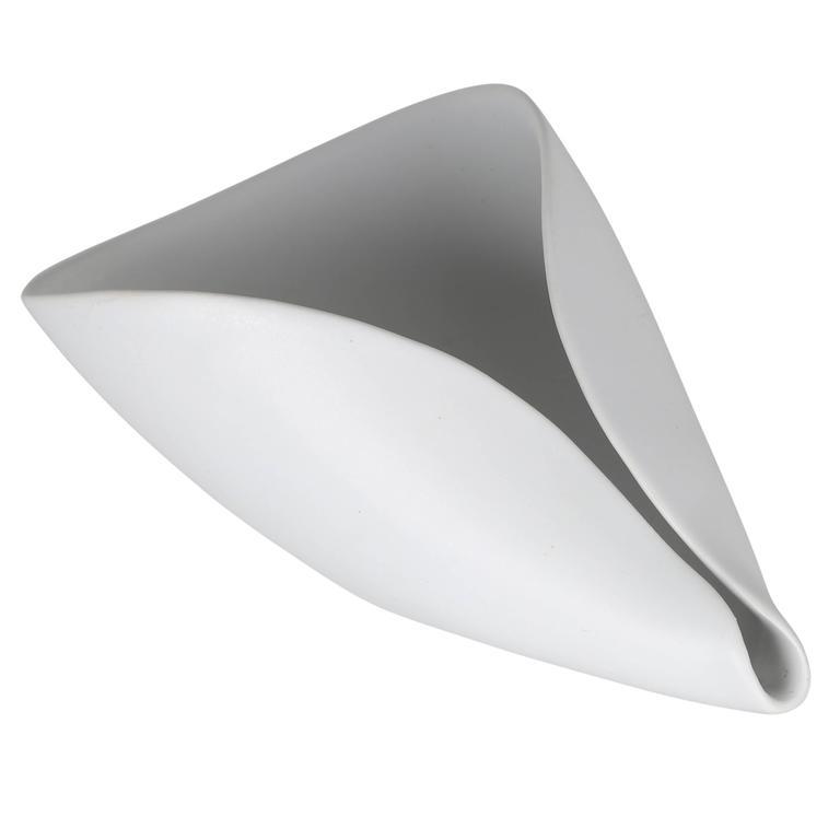 """White """"Vekla"""" Dish by Stig Lindberg for Gustavsberg, circa 1950s"""