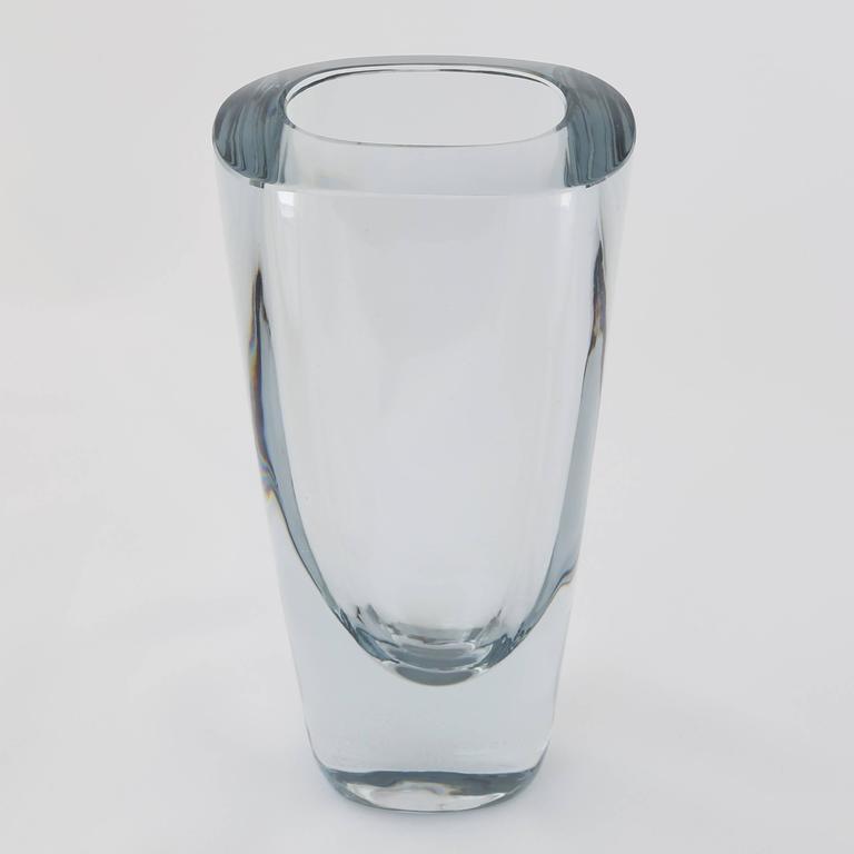 Rectangular strombergshyttan glass vase circa 1950s for for Jardin glass vases 7 in