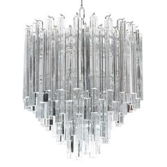 Tiered Italian Crystal Chandelier by Camer, circa 1970s