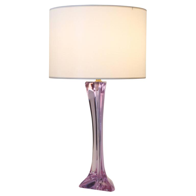 Lavender glass table lamp by cristalleries de sevres of france french lavender glass table lamp by cristalleries de sevres of france circa 1960s for sale aloadofball Image collections