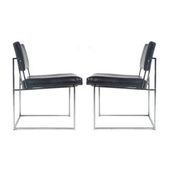 Pair of Milo Baughman for Thayer Coggin Side Chairs, circa 1970s