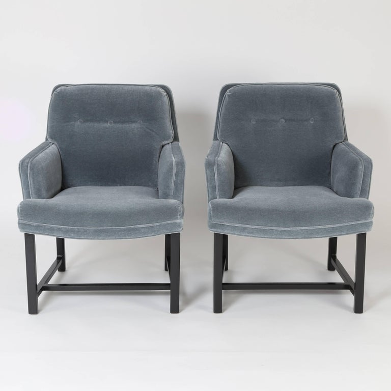 American Pair of Edward Wormley for Dunbar Armchairs, circa 1960s For Sale