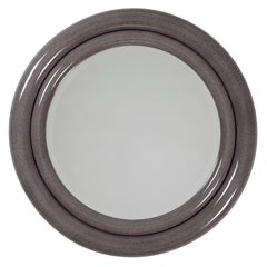 "Karl Springer ""Double Bullseye"" Mirror in Faux Stone Lacquer, circa 1980s"