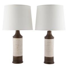 "Pair of Bitossi ""Birch"" for Bergboms Ceramic Table Lamps, circa 1960s"
