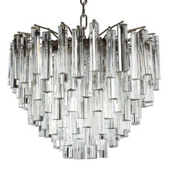 Camer Murano Tiered Prism Crystal Chandelier, circa 1970s