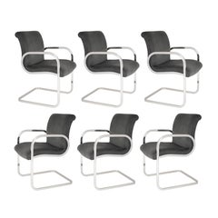 "Set of Six ""Ghia"" Dining Chairs by Charles Gibilterra for Brueton, circa 1970s"