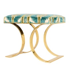 "Karl Springer ""J.M.F. Curved Bench"" in Brass"