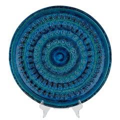 """Rimini Blu"" Ceramic Platter by Aldo Londi for Bitossi, circa 1960s"