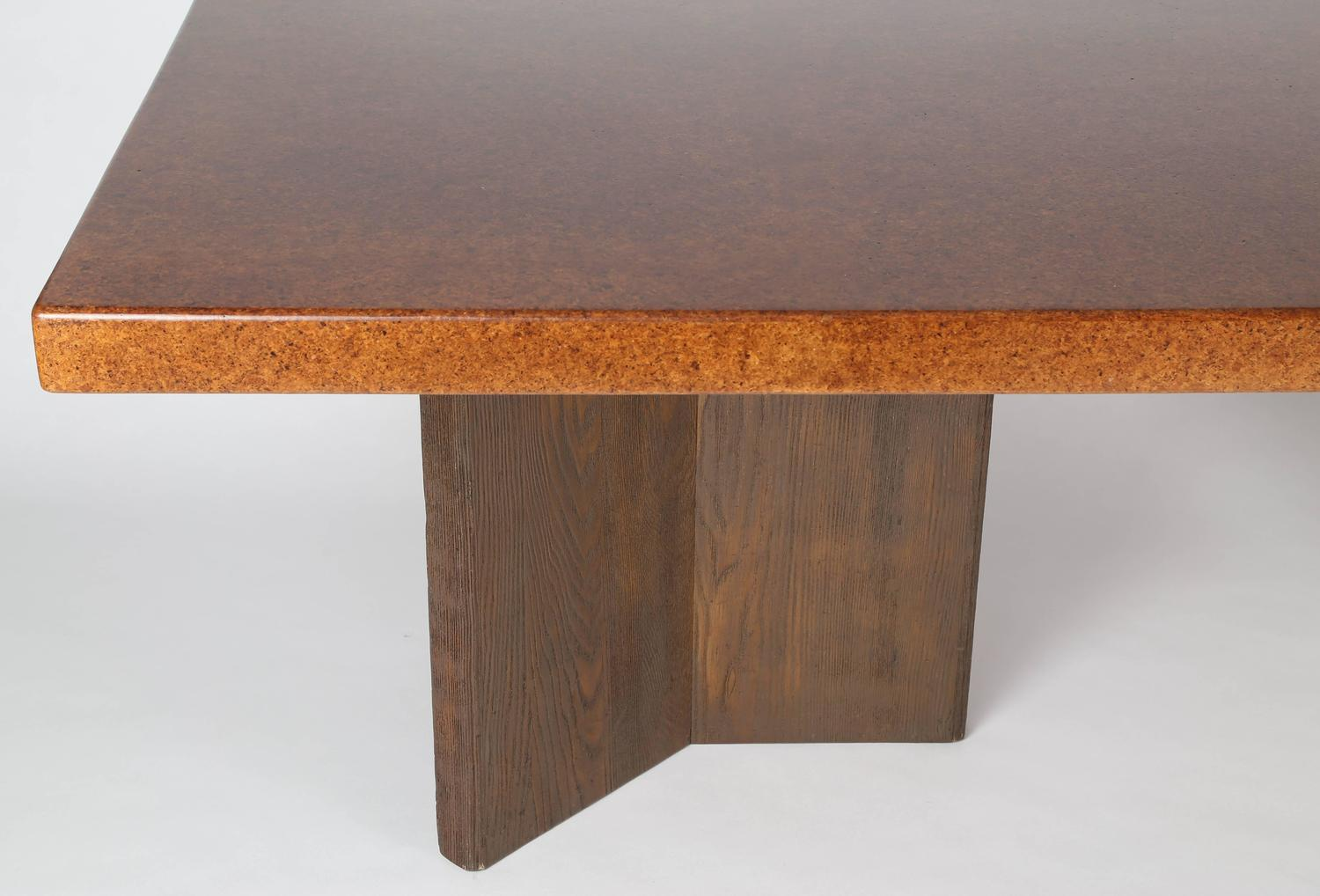 Large Cork Top Dining Table By Paul Frankl For Sale At 1stdibs