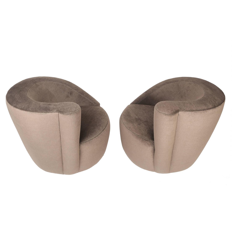 Pair Of Vladimir Kagan U0026quot;Corkscrewu0026quot; Swivel Chairs ...