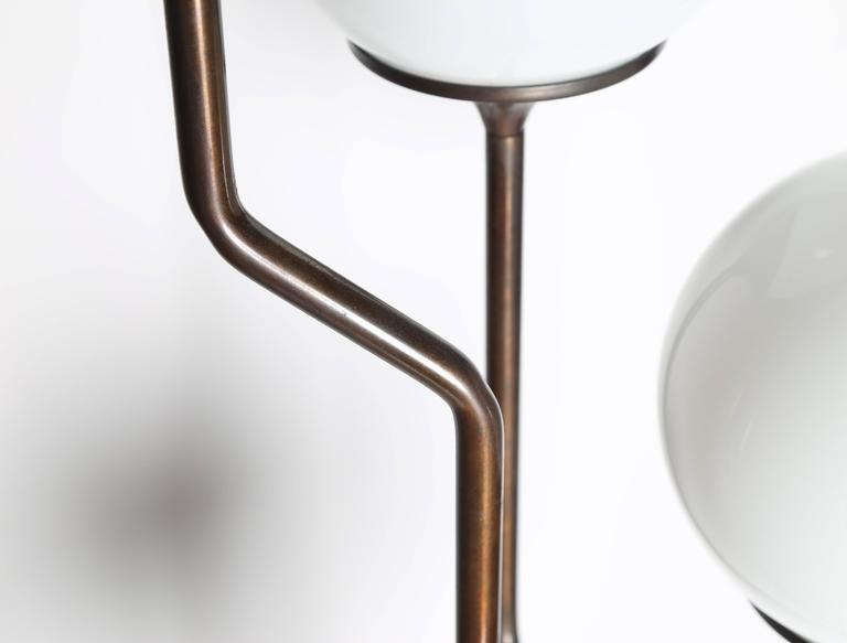 Reggiani Four Globe Floor Lamp In Rare Bronze Finish At