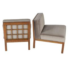 Pair of Michael Taylor for Baker Slipper Chairs, circa 1960s