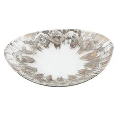 Dorothy Thorpe Sterling-on-crystal Ovoid Bowl, circa 1960s