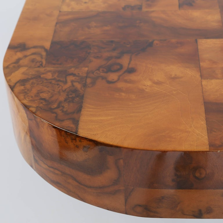 "Paul Evans ""Cityscape"" Burl and Chrome Dining Table, circa 1970s 7"