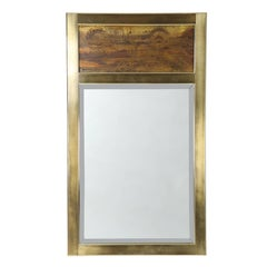 1970s Bernhard Rohne for Mastercraft Rectangular Mirror with Acid-Etched Frame