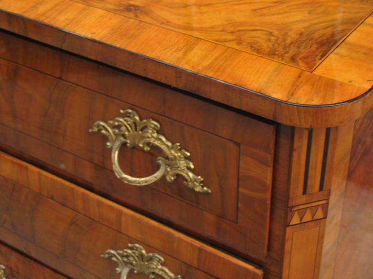 German Fine Rococo Three-Drawer Chest For Sale