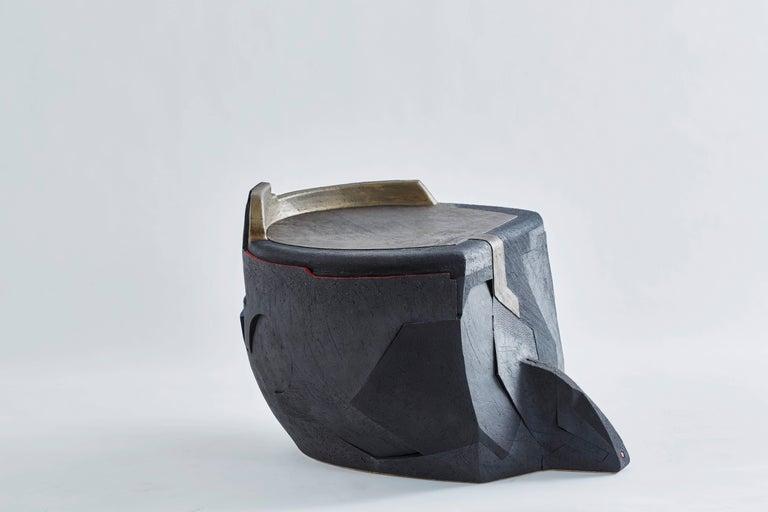 Andile Dyalvane, Mud Table/Stool, Black Clay 2
