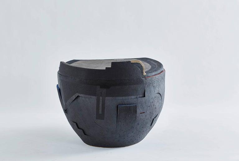 Andile Dyalvane, Mud Table/Stool, Black Clay 3