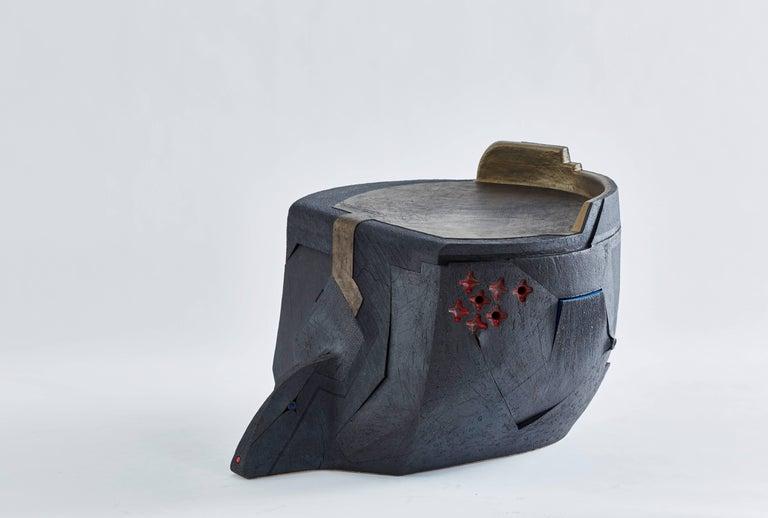 Andile Dyalvane, Mud Table/Stool, Black Clay 4