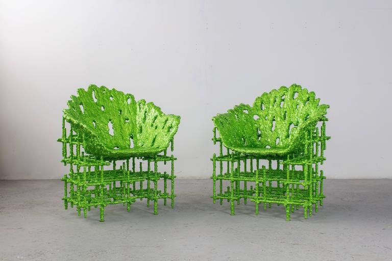 Chris Schanck [American, b. 1975] Alufoil (Shell Chair), 2016 Resin, aluminium, polystyrene  Measures: 40 x 31 x 31 inches 101 x 79 x 79 cm  Christopher Schanck was born in 1975 and raised in Dallas, Texas.  He received a B.F.A. from the School of
