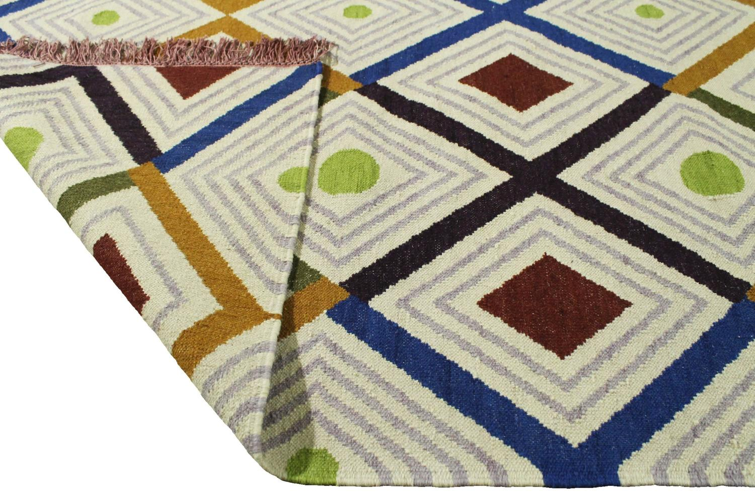 Delaunay 4 Kilim by Nuria Mora for Dac Rugs, Barcelona For ...