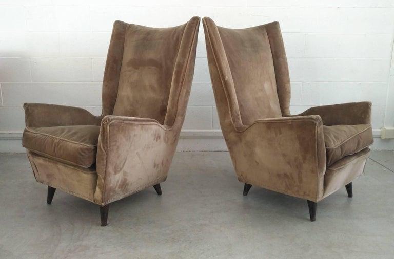 Pair of Armchairs by Isa Bergamo Attributed Gio Ponti, 1950 4