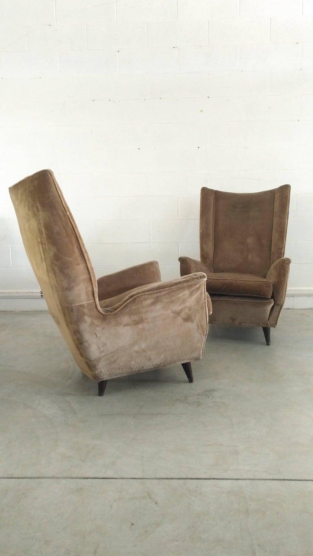 Pair of Armchairs by Isa Bergamo Attributed Gio Ponti, 1950 5