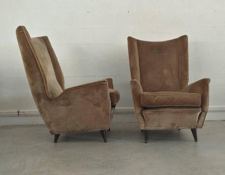 Pair of Armchairs by Isa Bergamo Attributed Gio Ponti, 1950 6