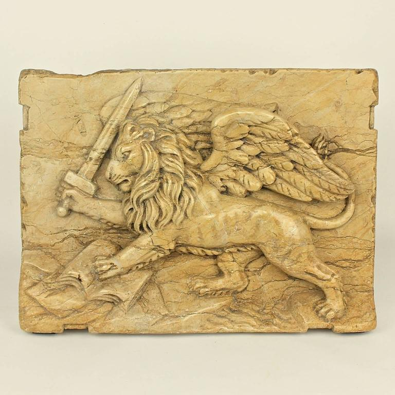 18th Century Marble Relief Plate Of The Lion Of St Marks At 1stdibs