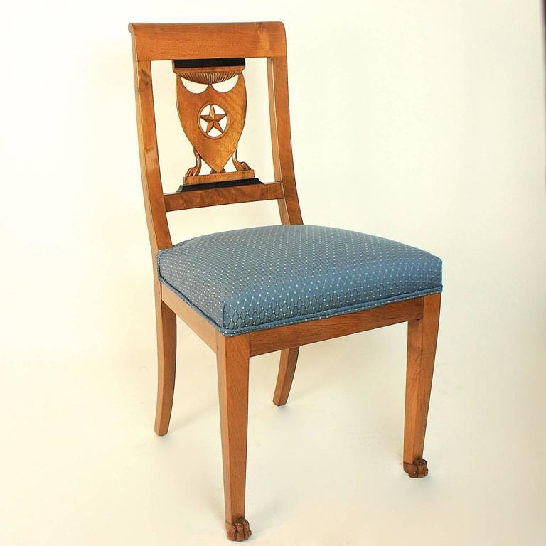 Set of Six Late 18th Century Directoire Dining Chairs, workshop of P.M. Balny For Sale 1