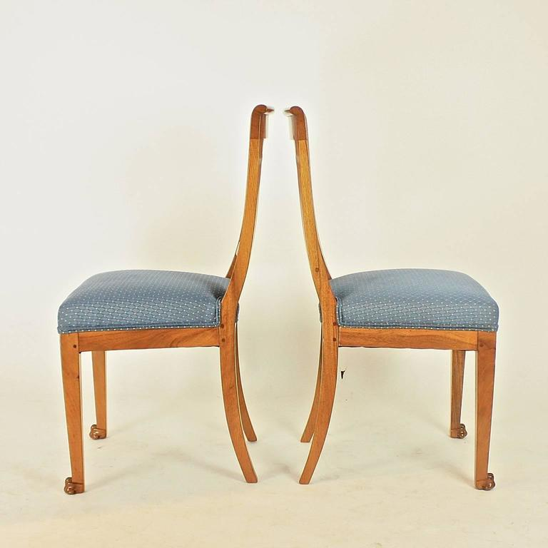 Set of Six Late 18th Century Directoire Dining Chairs, workshop of P.M. Balny For Sale 2